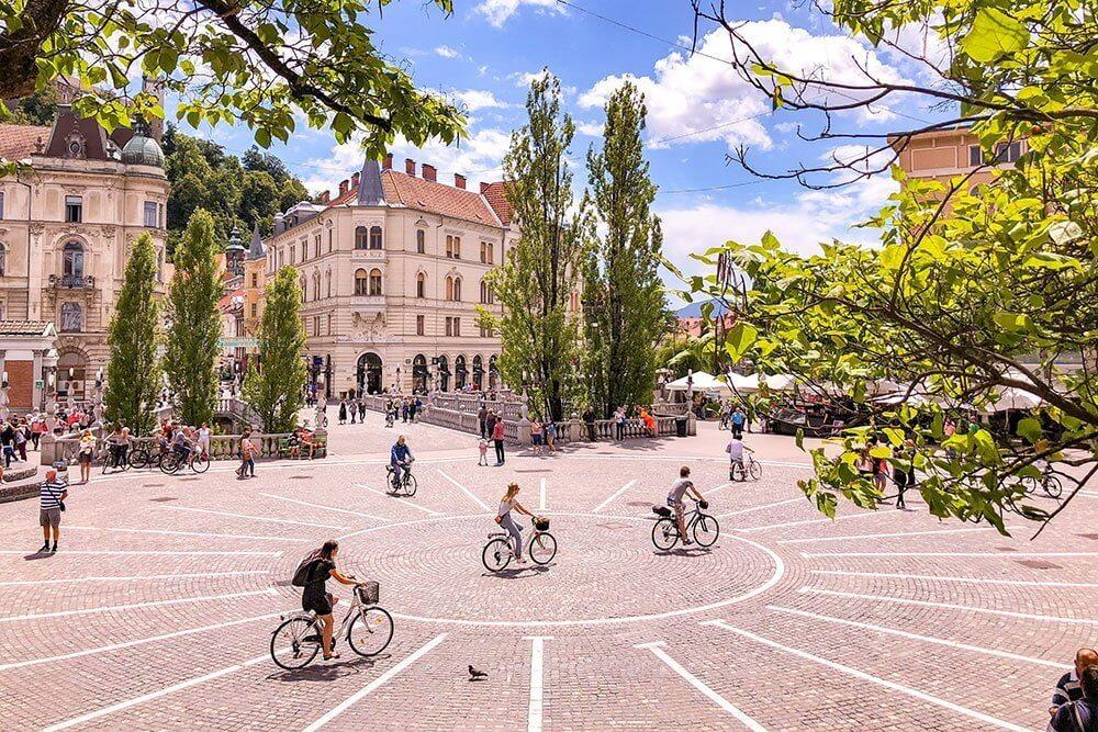 Phố đi bộ trung tâm Ljubljana