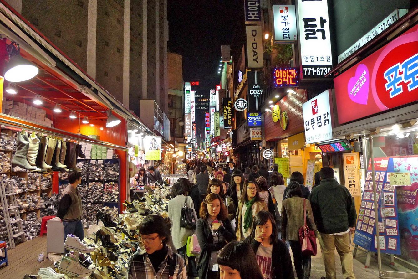 Nhộn nhịp mua sắm ở xứ Hàn