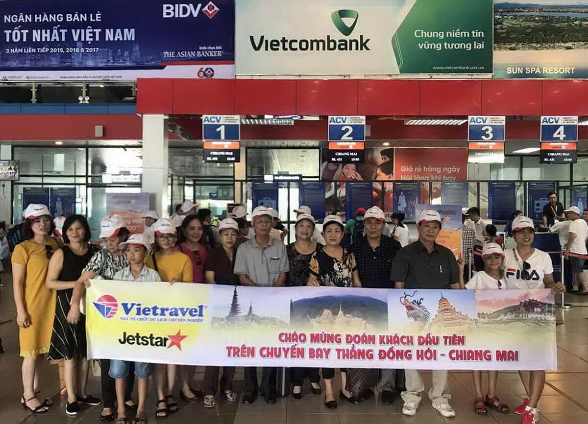 Vietravel tích cực khai thác Charter Vinh - Bangkok