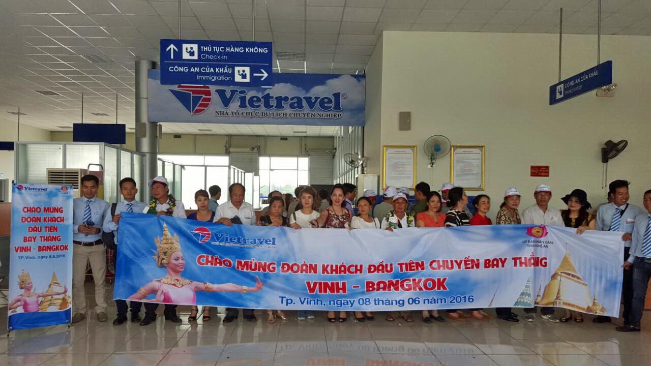 Vietravel mở bán tour Charter Vinh - Bangkok chào mừng khai trương Nhà ga quốc tế tại Cảng hàng không Quốc tế Vinh