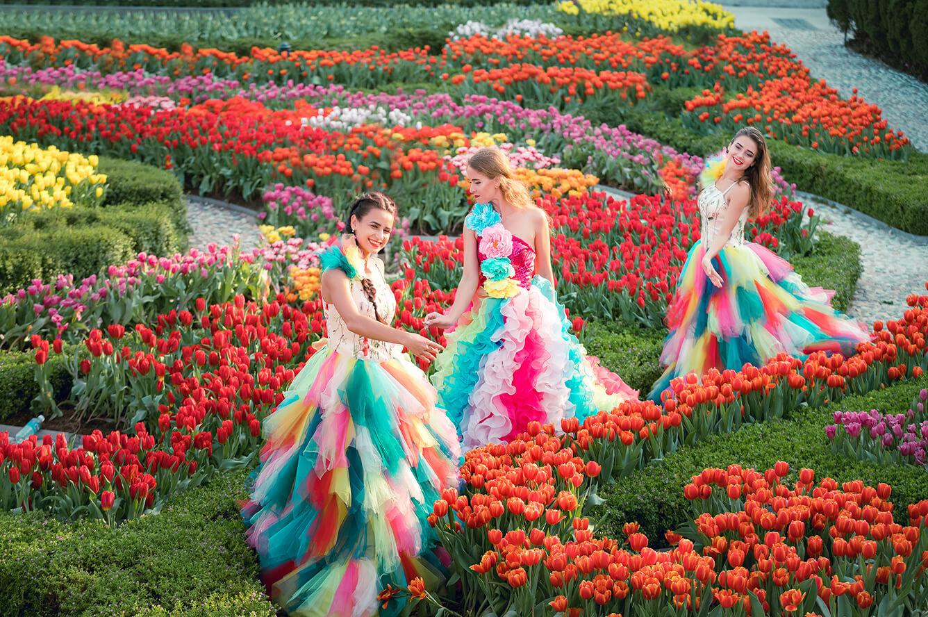 Ngàn hoa khoe sắc trên đỉnh Bà Nà trong ngày Tết
