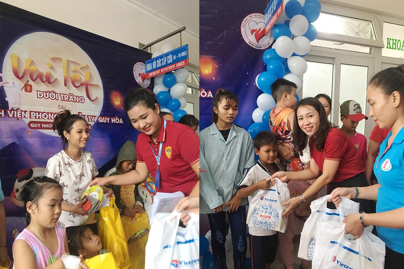 Vietravel trao quà Trung thu cho bệnh nhi tại Bình Định