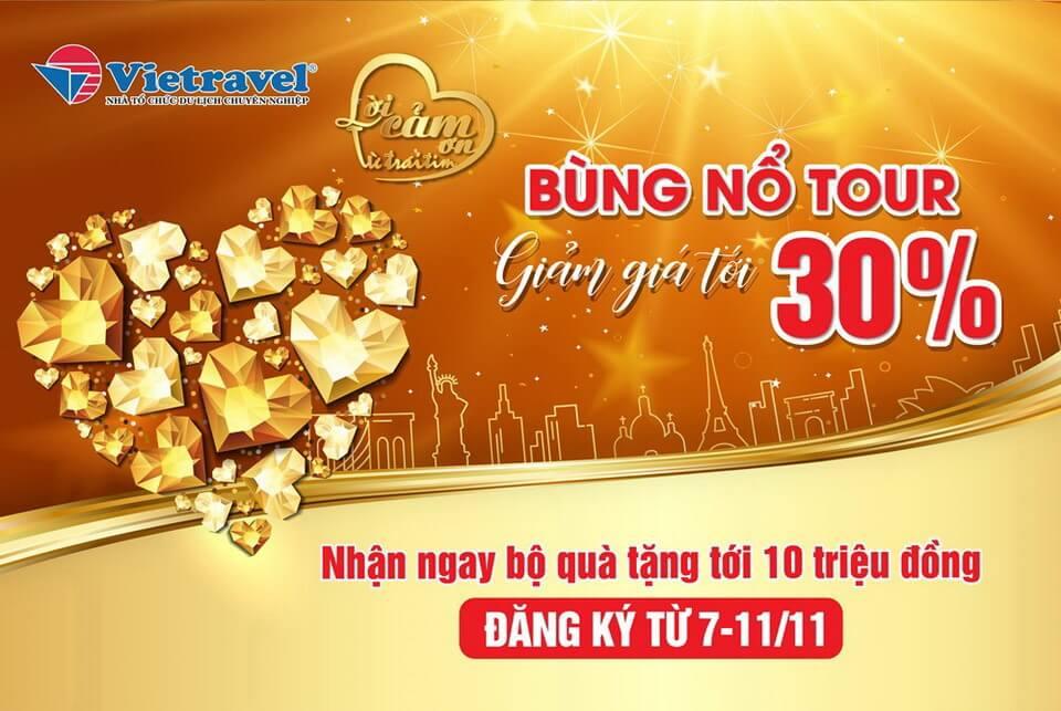 Ngày hội Tư vấn - Khuyến mại du lịch 'Vietravel's day' diễn ra tại Hà Nội từ 7-11/11