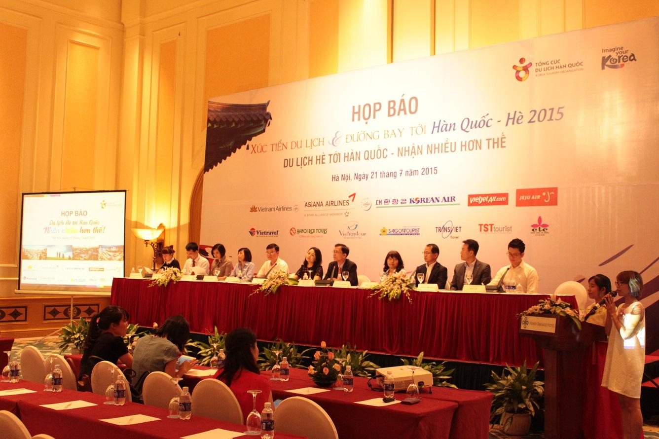 Vietravel phối hợp Tổng Cục Du Lịch Hàn Quốc tại Việt Nam tổ chức họp báo xúc tiến trở lại thị trường du lịch Hàn Quốc