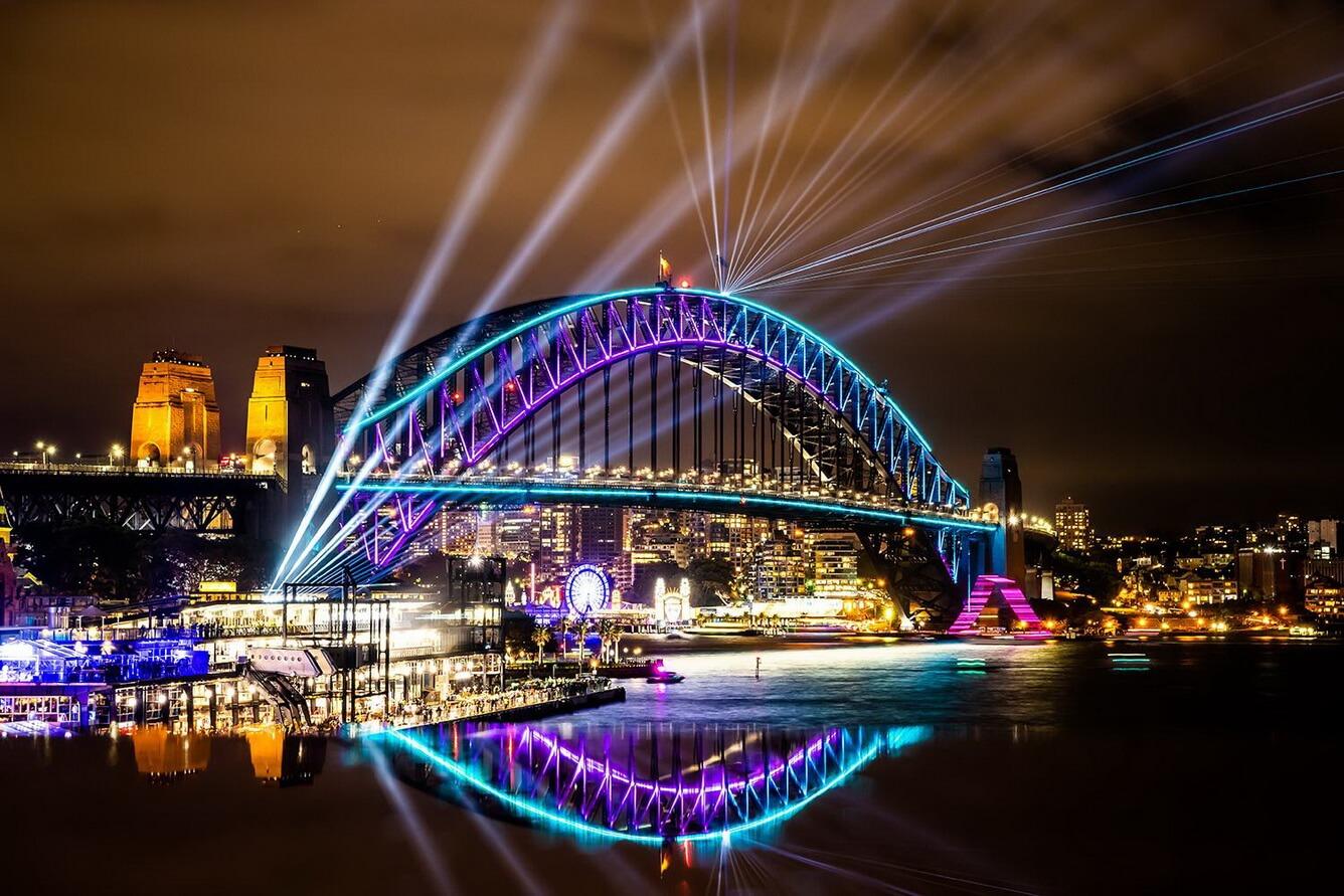 2. Mê hoặc lễ hội ánh sáng Vivid Sydney 2019