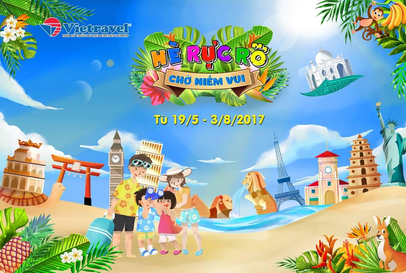 Vietravel dành nhiều ưu đãi tặng du khách dịp hè