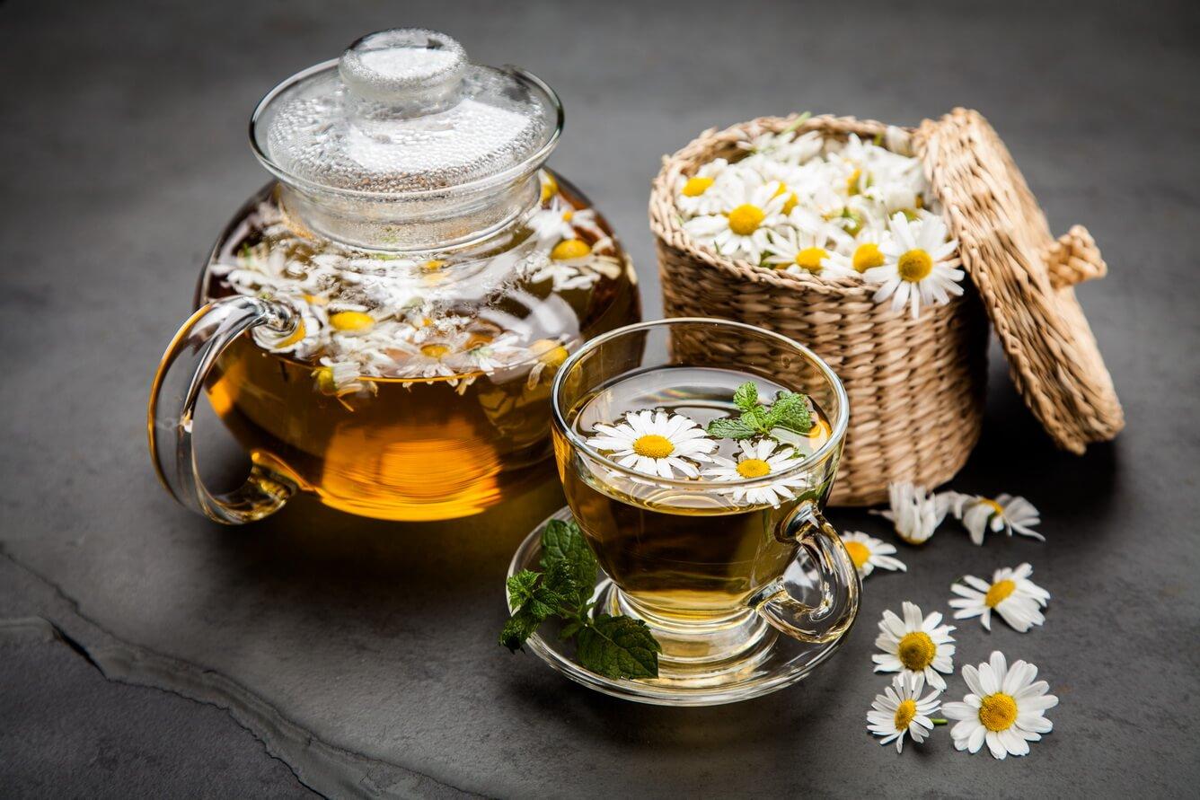 Trà hoa cúc + đường phèn