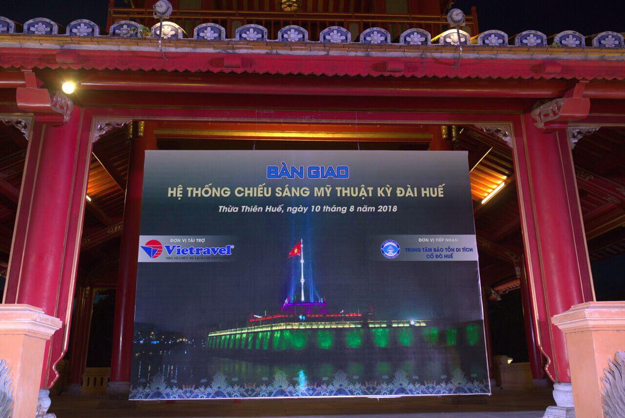 Xem thêm một số hình ảnh tại Lễ Bàn giao Hệ thống Chiếu sáng mỹ thuật Kỳ Đài Huế: