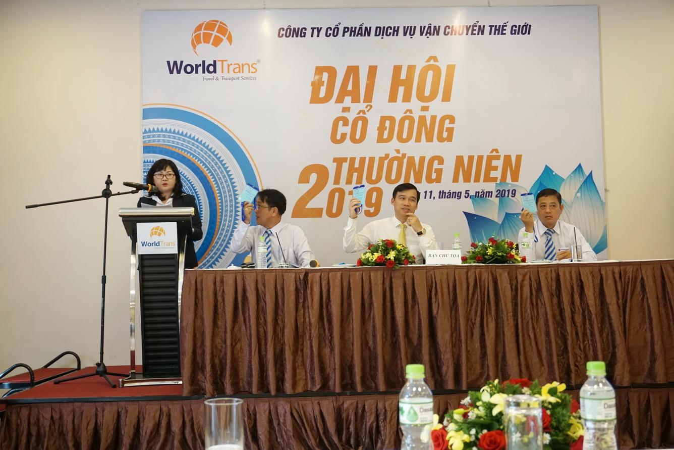Công ty Cổ phần Dịch vụ Vận Chuyển Thế Giới (WorldTrans) tổ chức thành công Đại hội cổ đông thường niên 2019