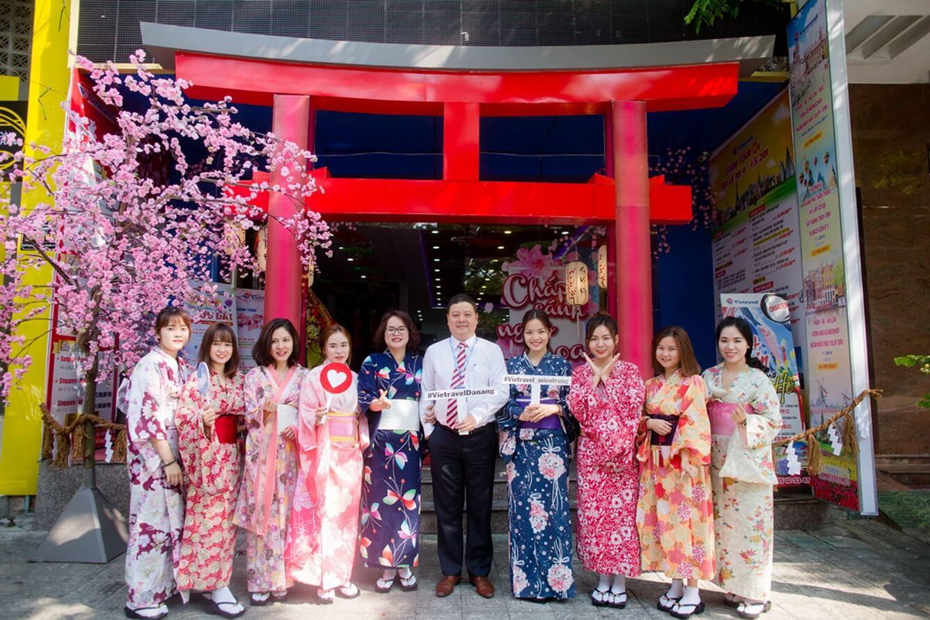 """Vietravel Đà Nẵng tổ chức tuần lễ văn hóa Nhật Bản """"Feel Japan in Vietravel Da Nang""""."""
