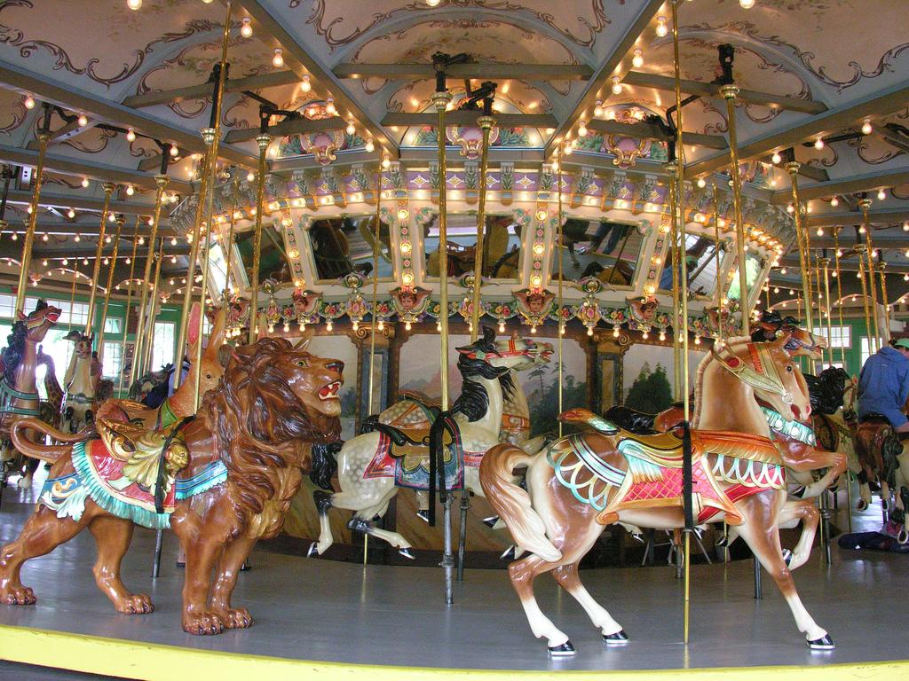 3. Ride Piazza della Repubblica's Antique Carousel