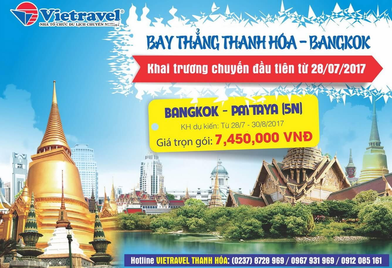 Khai trương đường bay thẳng Thanh Hóa - Bangkok