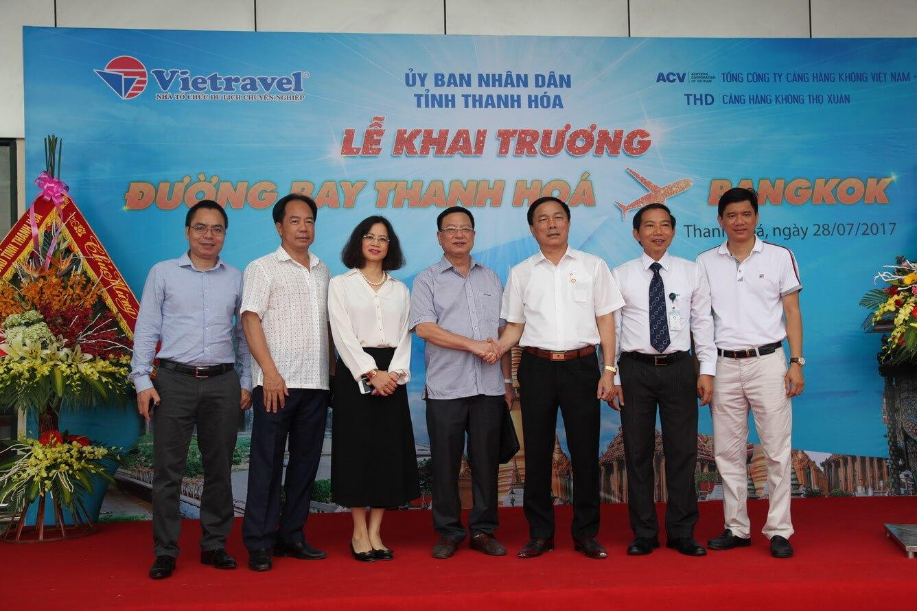 Vietravel tiên phong phát triển du lịch Thanh Hóa bằng đường bay Thanh Hóa - Bangkok
