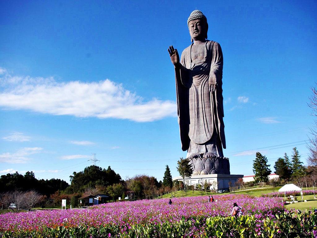 3. Ushiku Daibutsu (120 meters)