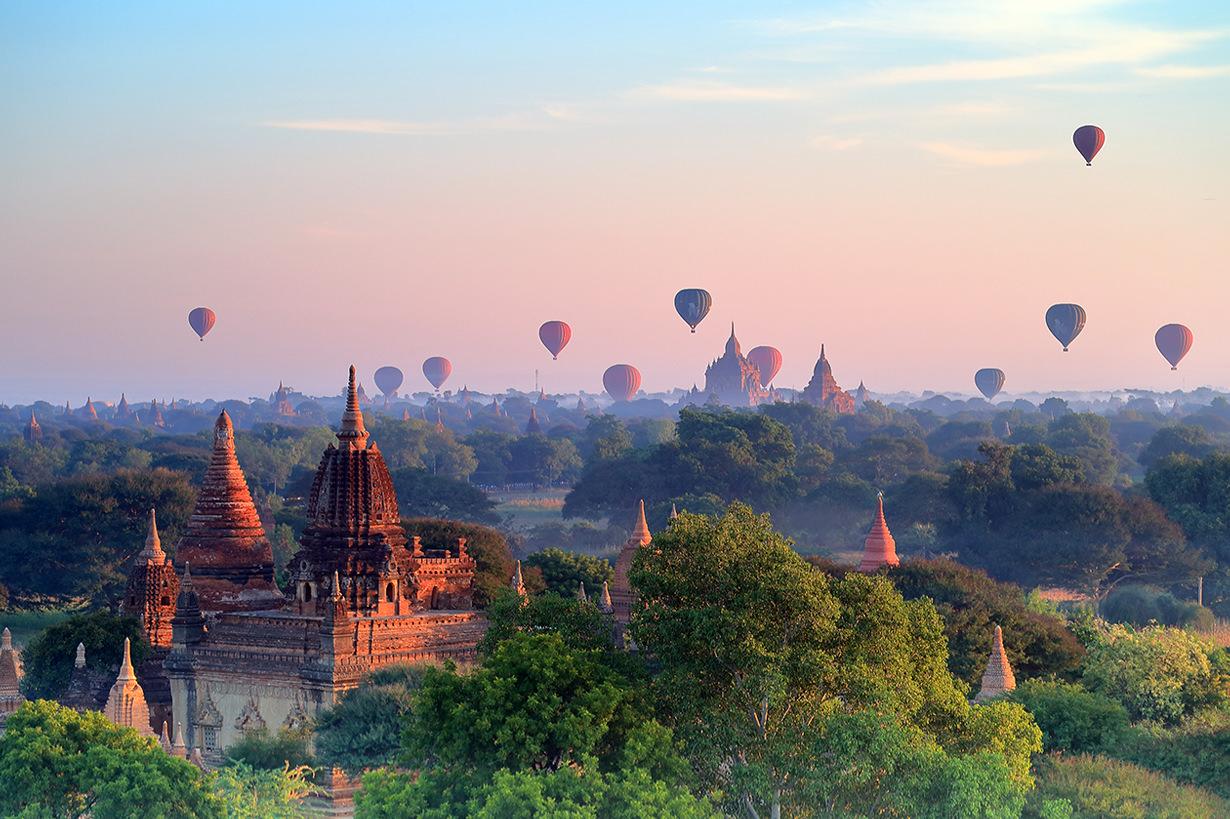 The weather in Bagan, Myanmar