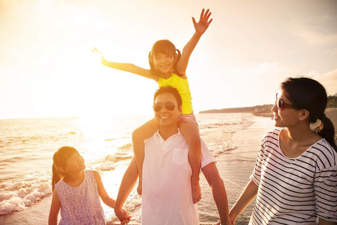 Đi biển cùng trẻ nhỏ