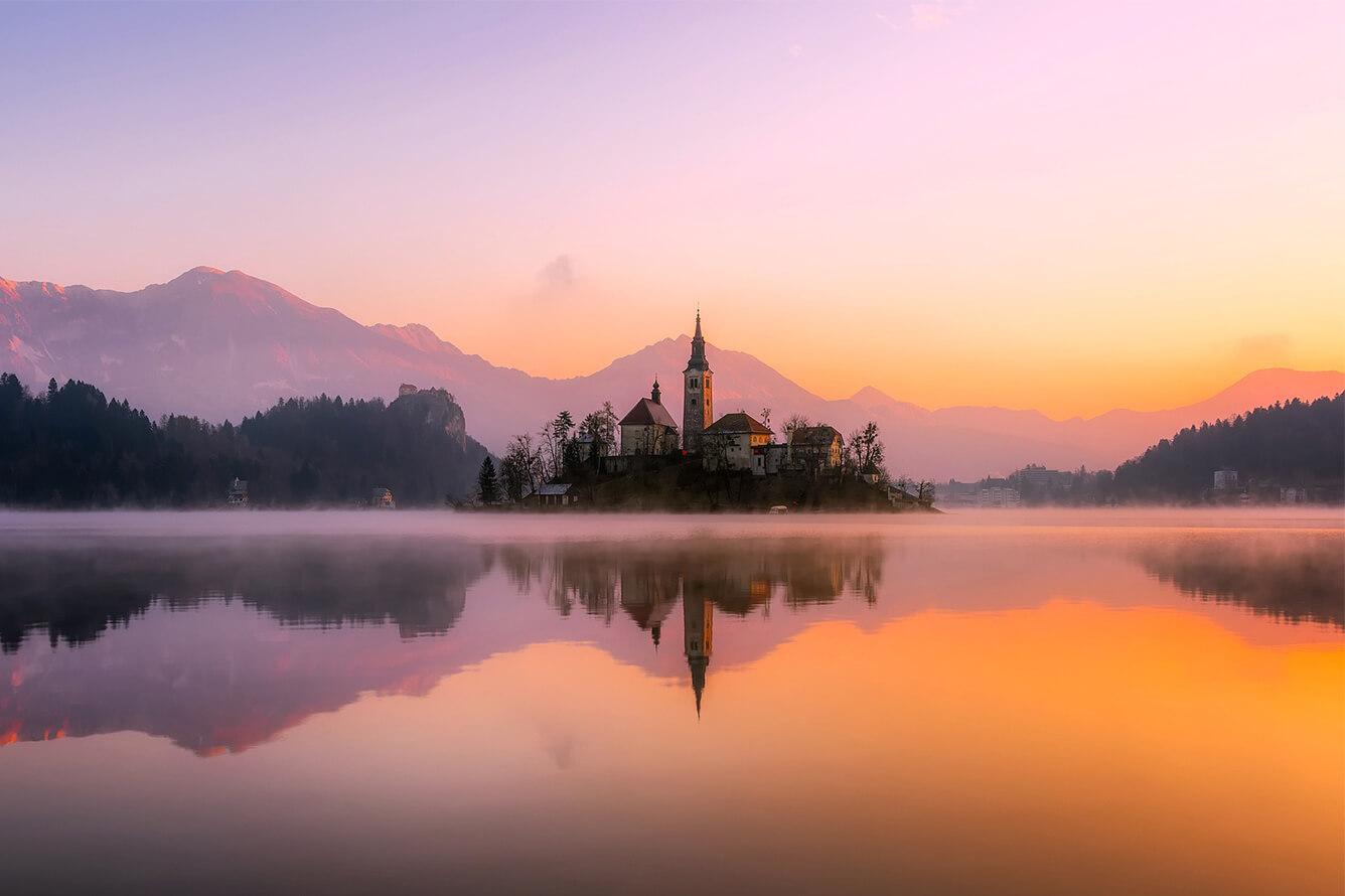 """Hồ Bled – """"Viên ngọc quý"""" vùng Balkan"""