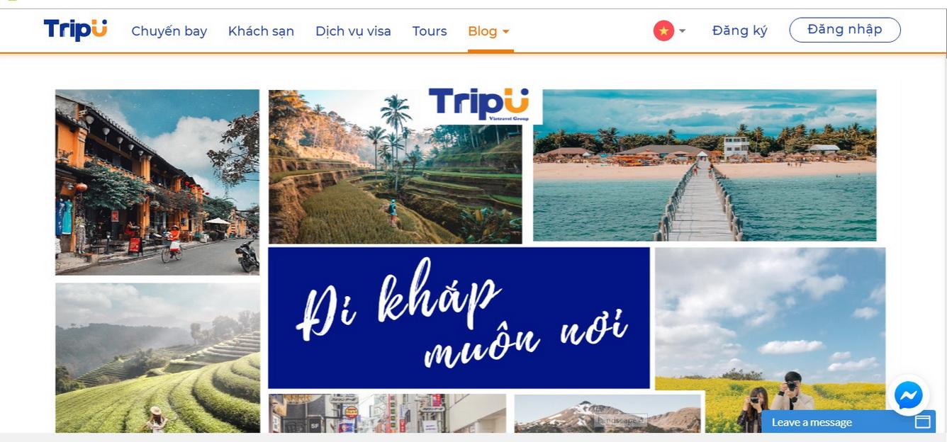 TripU.vn – Dịch vụ du lịch tự túc hàng đầu Việt Nam