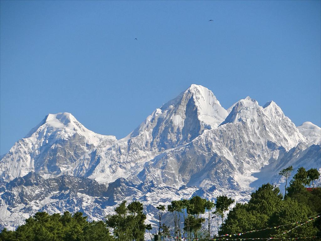 Sweeping views of Himalayas