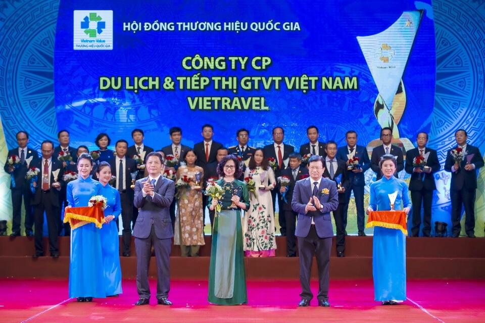 Vietravel vinh dự lần thứ 4 liên tiếp đạt giải 'Thương hiệu Quốc gia'