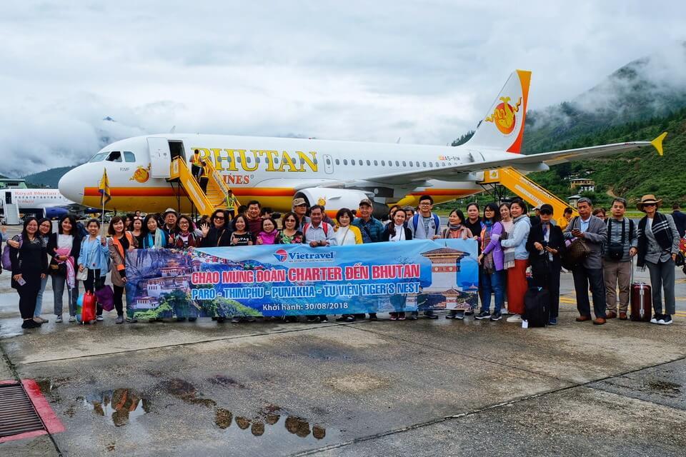 Bay thẳng đến Bhutan bằng chuyến bay thuê bao
