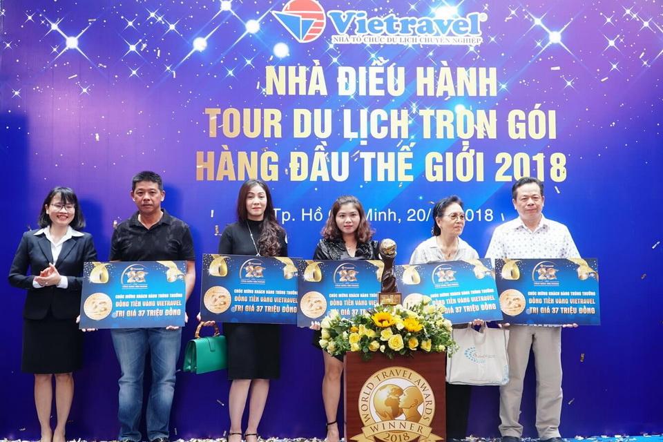 Chúc mừng 23 khách hàng trúng thưởng đồng tiền vàng Vietravel