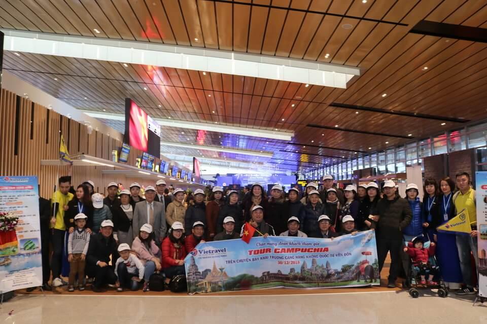 Vietravel khởi hành tour ghép khách lẻ đi Campuchia từ Cảng hàng không quốc tế Vân Đồn️