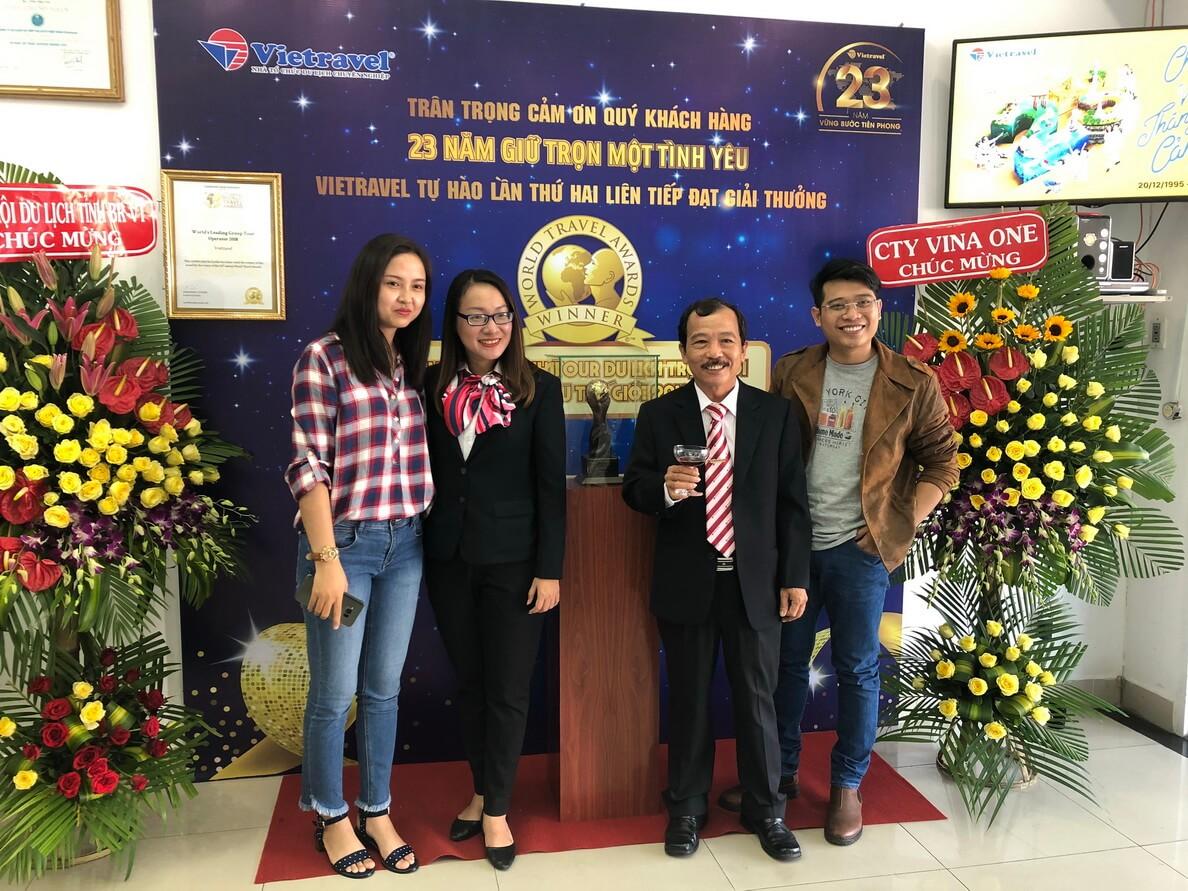 Hành trình xuyên việt rước cúp 'World Travel Awards' lần II và trưng bày tại Vietravel Vũng Tàu