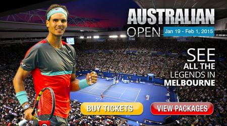 Vietravel mở bán tour xem giải quần vợt Úc mở rộng 2015