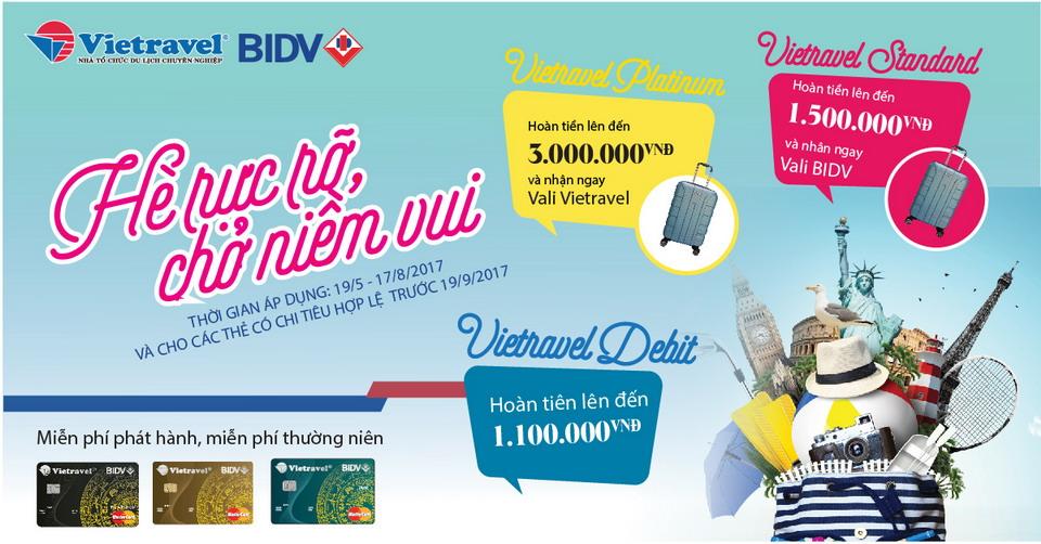 """""""Mùa hè 60 năm"""" cùng thẻ BIDV-Vietravel"""