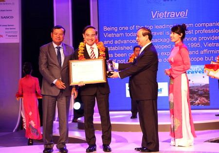 """Vietravel vinh dự nhận giải thưởng """"Nhà điều hành du lịch outbound xuất sắc của năm"""""""