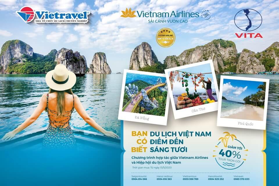 Hấp dẫn chùm tour khuyến mại bay cùng Vietnam Airlines
