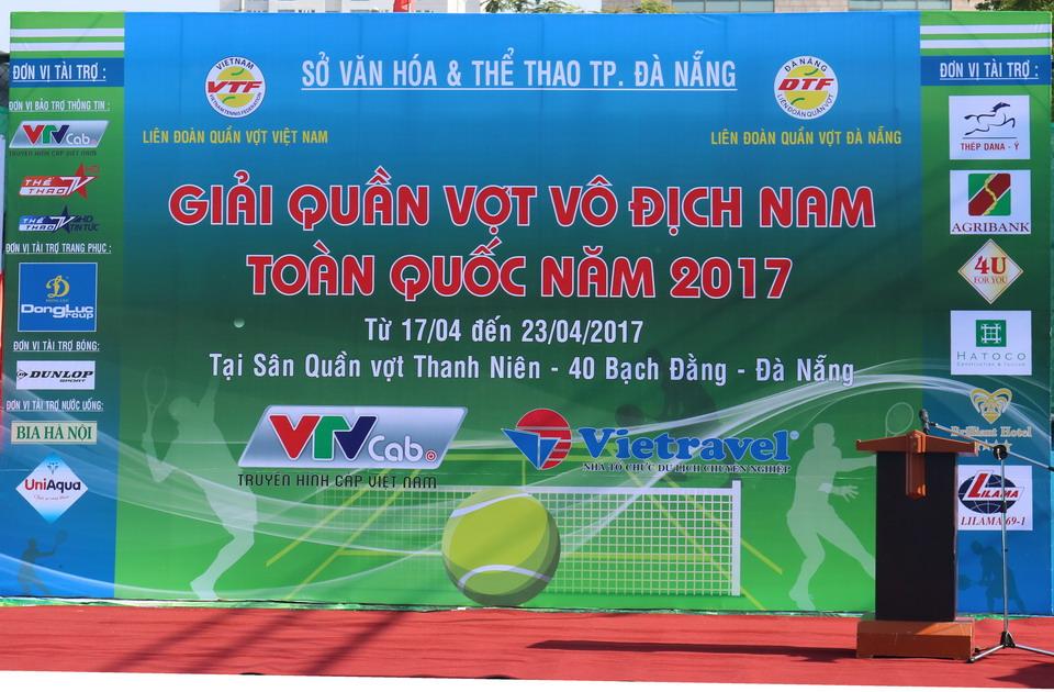 Vietravel tài trợ chính giải quần vợt vô địch nam toàn quốc 2017