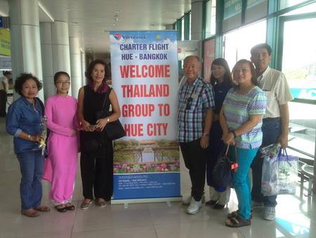 Vietravel Huế thành công khai thác khách du lịch đường bay thẳng Huế - Bangkok