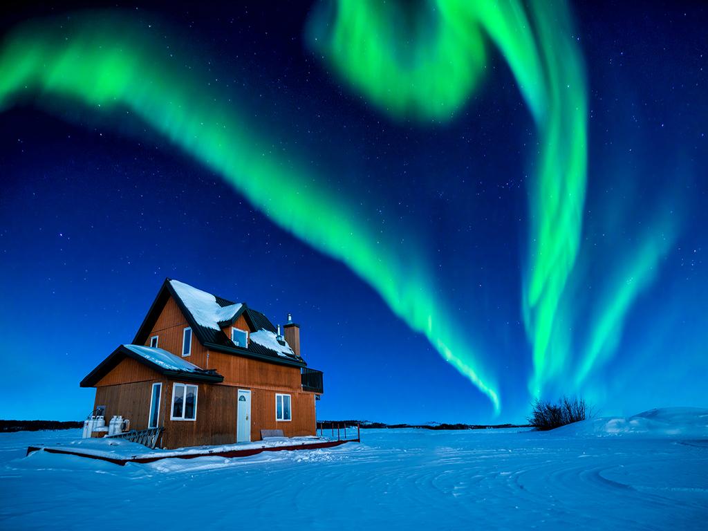 Săn bắc cực quang ở Yellowknife