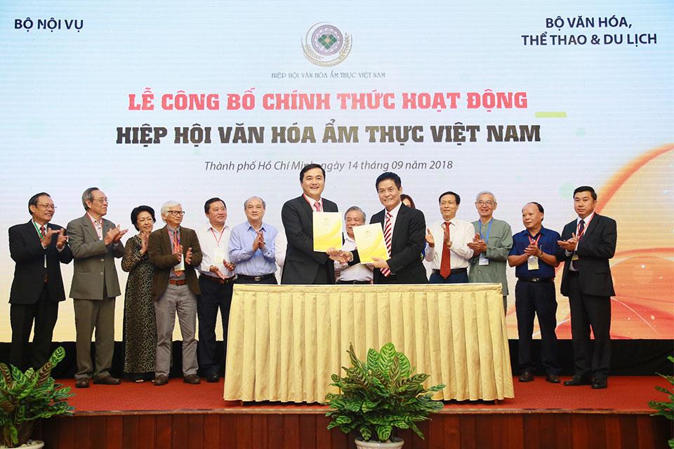 Lễ công bố chính thức hoạt động Hiệp hội Văn hóa Ẩm thực Việt Nam