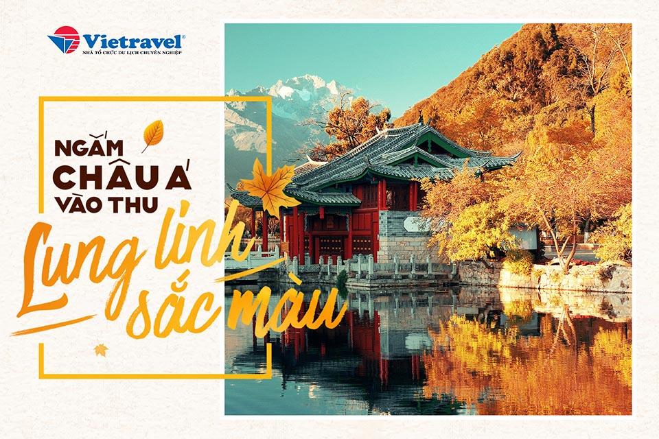 Ngắm châu Á vào thu lung linh sắc màu