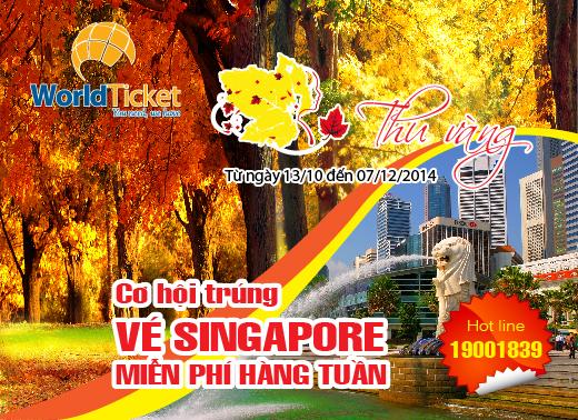 "Đặt dịch vụ trúng ngay tour ""Free & Easy"" Singapore của WorldTicket"