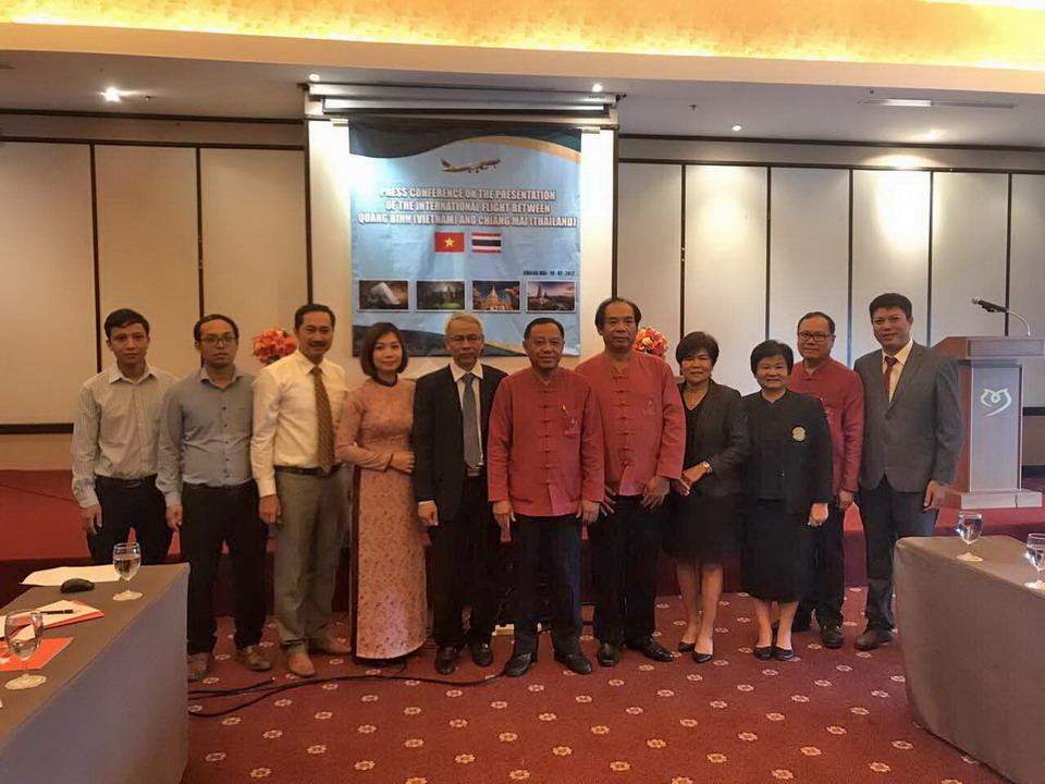 Họp báo giới thiệu đường bay quốc tế Quảng Bình-Chiang Mai (Thái Lan)