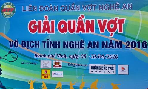 Vietravel đồng hành cùng giải quần vợt vô địch tỉnh Nghệ An 2016