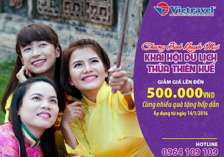 Vietravel giới thiệu tour Bangkok siêu khuyến mại tại Khai hội VHTT&DL Huế 2016