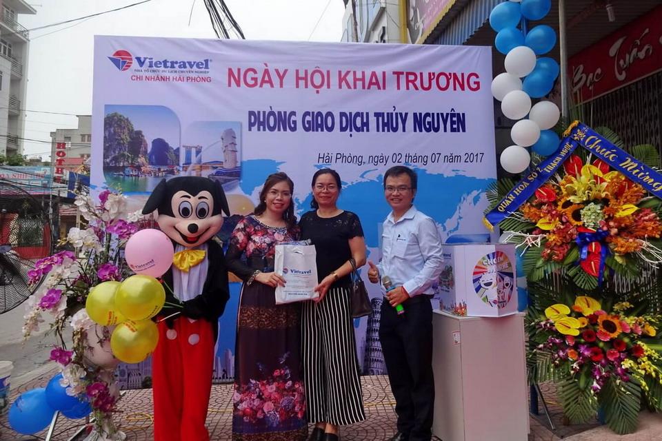 Vietravel Hải Phòng mở VPGD đầu tiên tại Thủy Nguyên