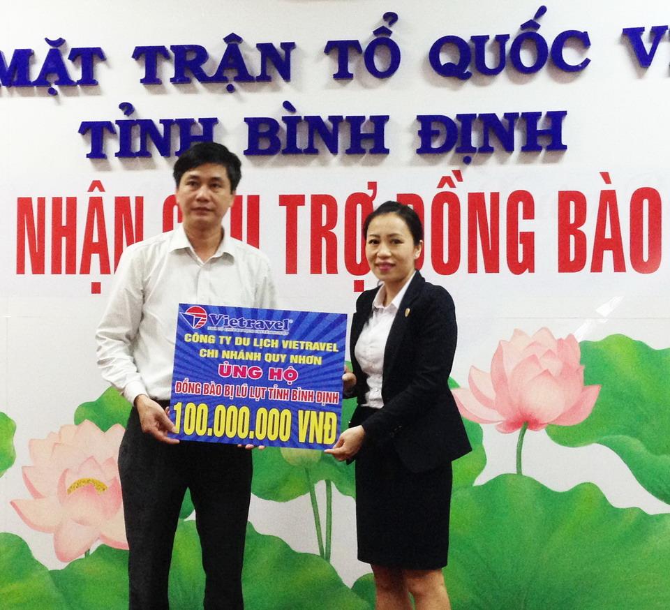 Vietravel Quy Nhơn hỗ trợ đồng bào Bình Định thiệt hại do lũ lụt