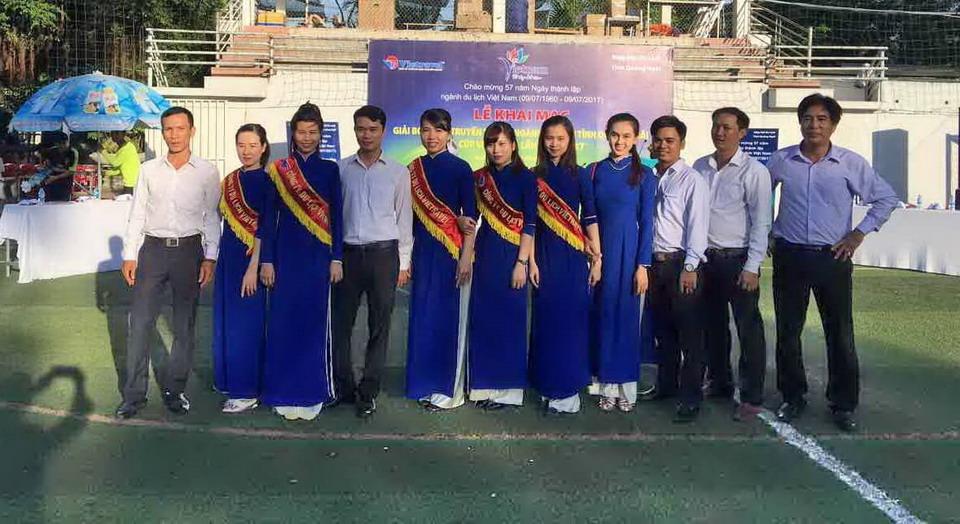 Tổ chức giải bóng đá truyền thống ngành du lịch tỉnh Quảng Ngãi - Cúp Vietravel lần I-2017