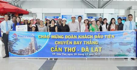 Chào mừng Festival hoa Đà Lạt 2015 Vietravel khởi động lại chuyến bay charter Cần Thơ - Đà Lạt - Cần Thơ