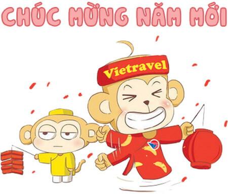 """Trọn bộ stickers """"Chúc Mừng Năm Mới"""" của Vietravel đã có mặt trên Zalo"""