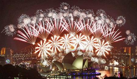 Nước Úc đón giao thừa rực rỡ