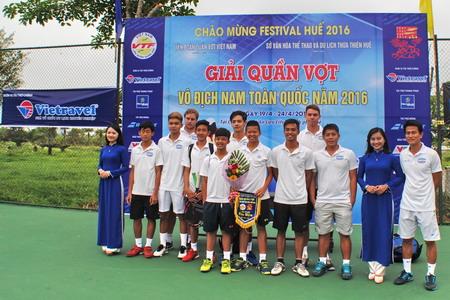 Vietravel tài trợ chính giải Quần vợt vô địch nam toàn quốc năm 2016