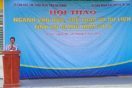 Vietravel đồng hành cùng hội thao ngành văn hóa, thể thao và du lịch tỉnh An Giang năm 2016
