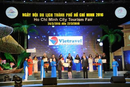 Vietravel đạt 5 giải thưởng lớn tại Ngày hội Du lỊch TP.HCM 2016